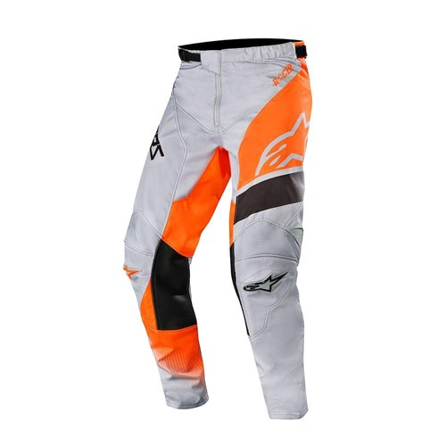 Alpinestars Racer Supermatic Motocross Pants - Light Gray Orange Fluo Black