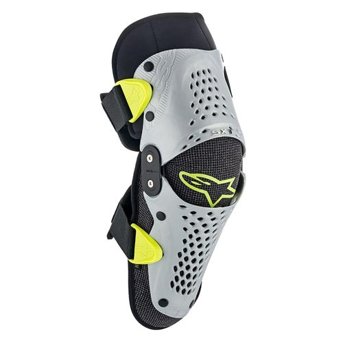 Alpinestars Sx-1 Youth Knee Protection - Silver Yellow Fluo