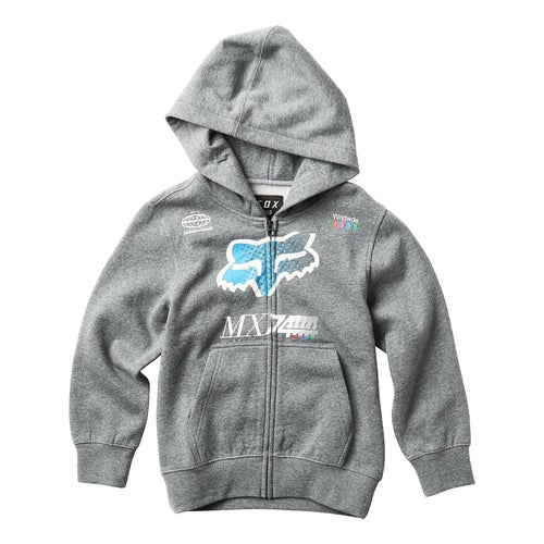 Fox Racing YOUTH Backdrafter Boys Zip Hoody - Grey