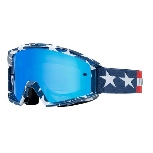 Fox Racing Main Stars Motocross Goggles - White Red Blue
