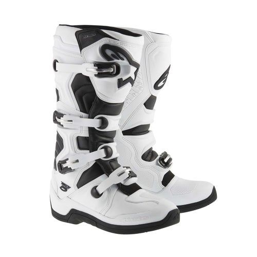 Alpinestars Tech 5 Motocross Boots - White Black