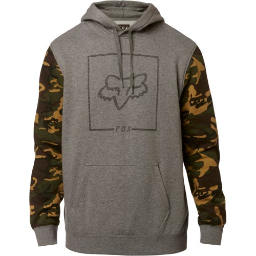Fox Racing Chapped Camo Fleece Pullover Hoody - Htr Graph