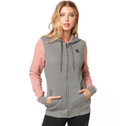 Fox Racing Everglade Fleece Dames Hoody met Rits - Htr Graph