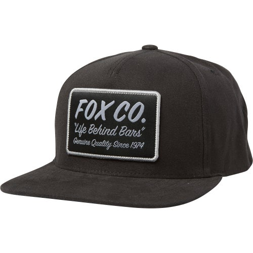 Fox Racing Resin Snapback Cap - Blk