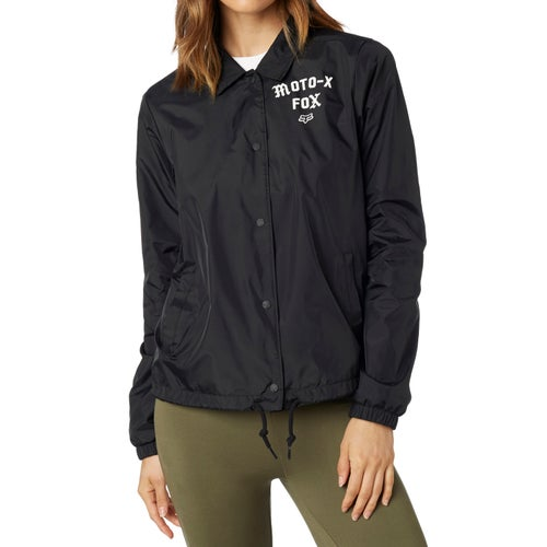 Fox Racing Pit Stop Coaches Womens Jacket - Blk