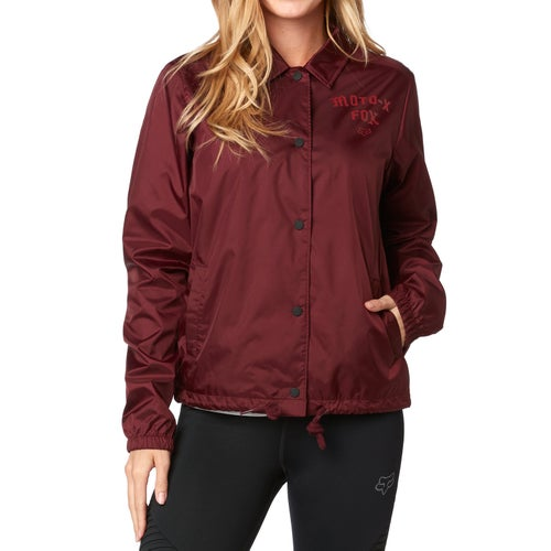 Fox Racing Pit Stop Coaches Womens Jacket - Crnbry