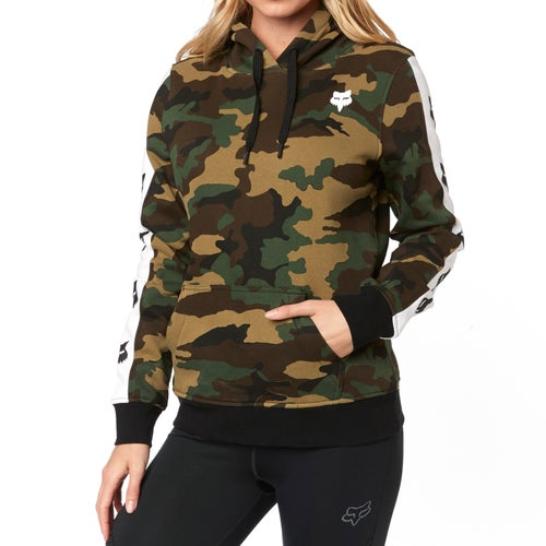 Fox Racing Team Fox Camo Womens Pullover Hoody - Cam