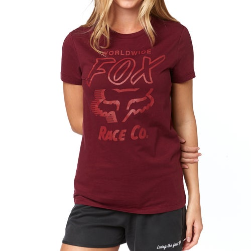 Fox Racing Worldwide Crew Womens Short Sleeve T-Shirt - Crnbry