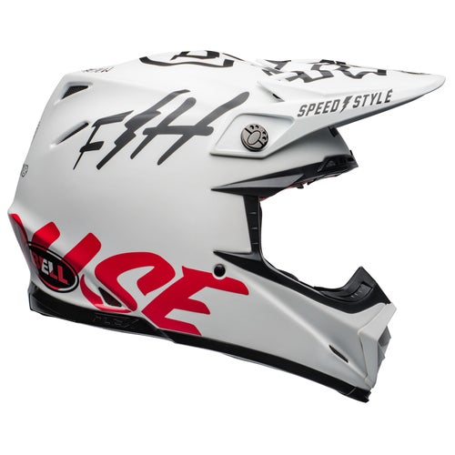 Bell Moto-9 Flex Fasthouse Motocross Helmet - White Black Red
