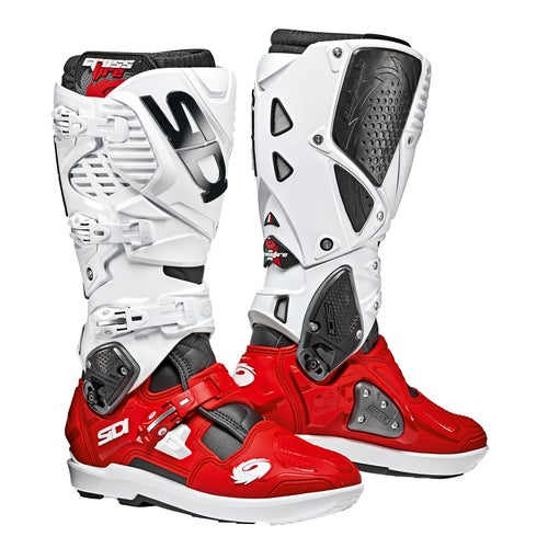 Sidi Crossfire 3 SRS Motocross Boots - Red White