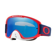 Red Navy ~ Black Ice Irdium & Clear Lens
