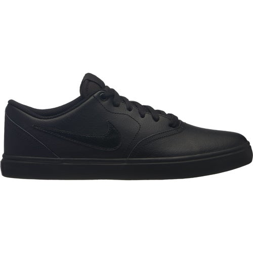 f0a726d7df09 Nike SB Check Solar Leather Shoe. Black Black-Gunsmoke