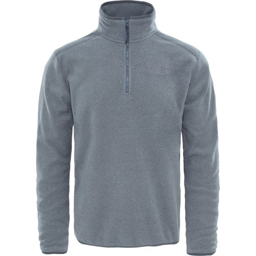 76f6d2ba114 North Face 100 Glacier Quarter Zip Mens Fleece - Grey ~ Grey