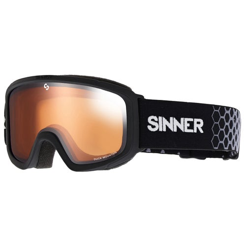 a667a61efda Sinner Duck Mountain Kids Ski Goggles. Matte Black ~ Double Orange