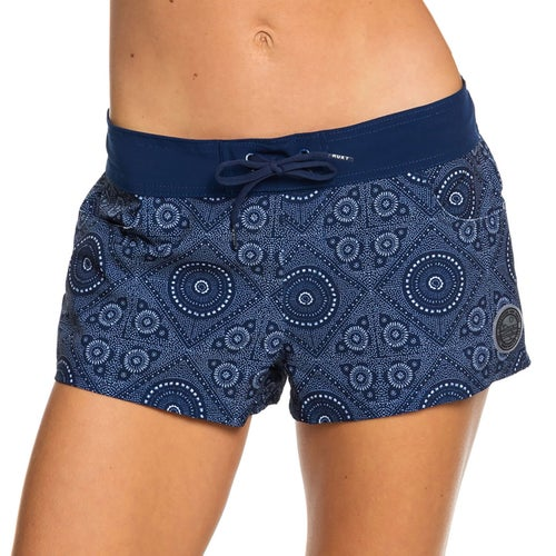 4f3147fccb Roxy Salt Retreats Semi Elastic Printed Womens Board Shorts - Blue