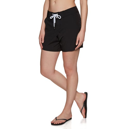 0a2a0e2438 SWELL Maddy Mid Womens Board Shorts - Black
