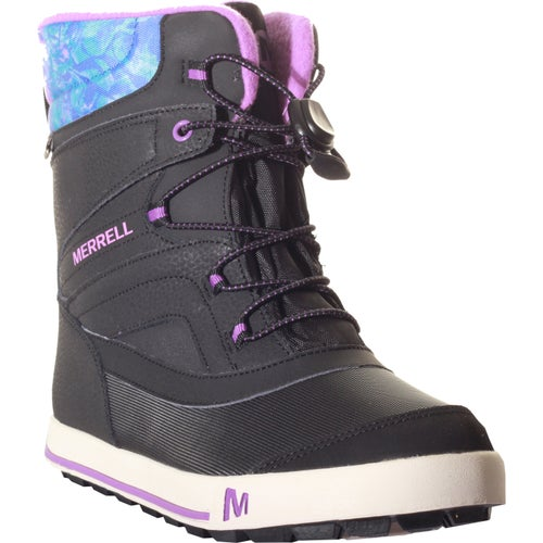 e545d9d119 Merrell Snow Bank 2 WTPF Childrens Boot - Black Print Berry