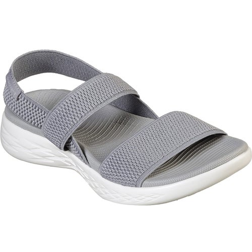 2f5e7b70ed5 Skechers On The Go 600 Flawless Ladies Sandals - Grey White