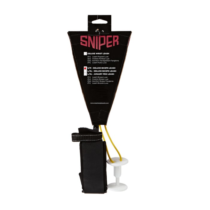 Sniper Deluxe Biceps Coiled Bodyboard Leash