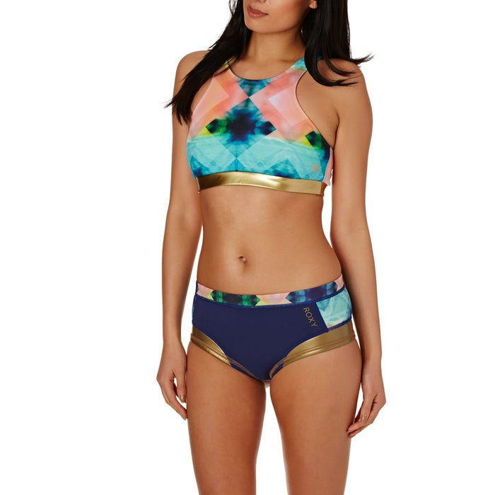Roxy Pop Surf Light Neo Crop Top Ladies Bikini Top
