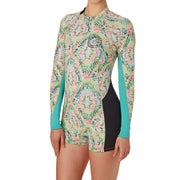 Billabong Surf Capsule Spring Fever 2mm 2017 Back Zip Long Sleeve Shorty Ladies Wetsuit