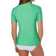 O Neill Basic Skins Short Sleeve Crew Ladies Rash Vest