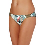 Roxy Printed Strappy Love 70s Pant Bikini Bottoms