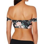 Billabong Let It Bloom Lace Up Bikini Top