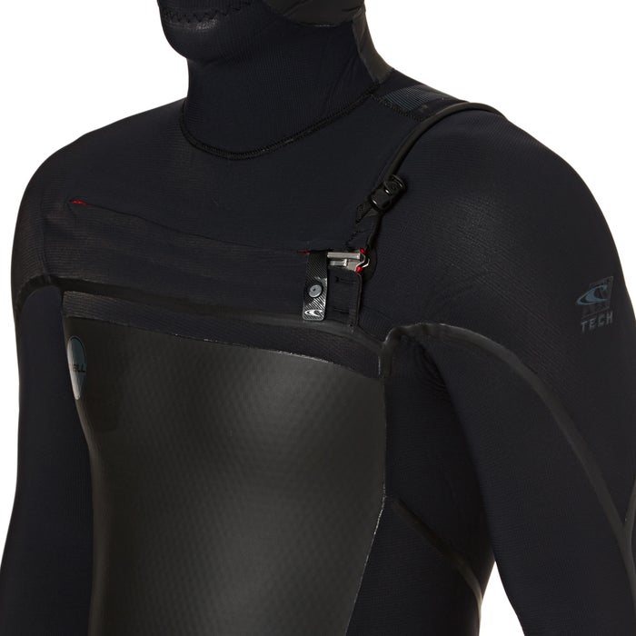 O Neill Psycho Tech 6/4mm 2018 Chest Zip Hooded Wetsuit