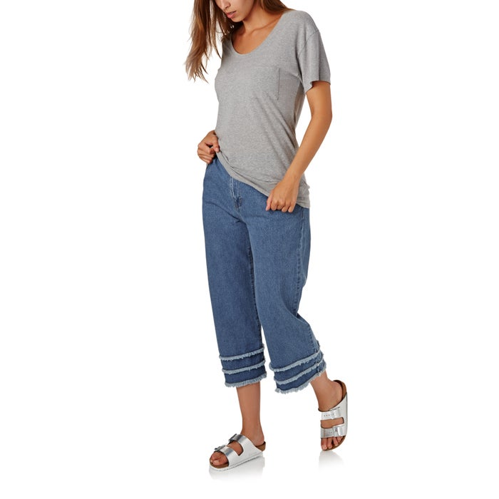 The Hidden Way Ari Denim Fray Culottes Ladies Jeans