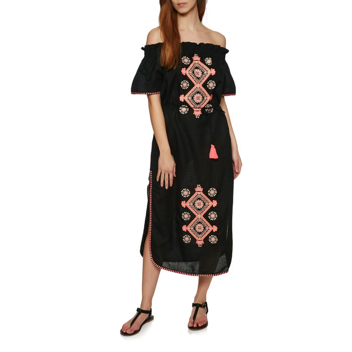 Seafolly Sahara Nights Off Shoulder Embroidered Ladies Dress