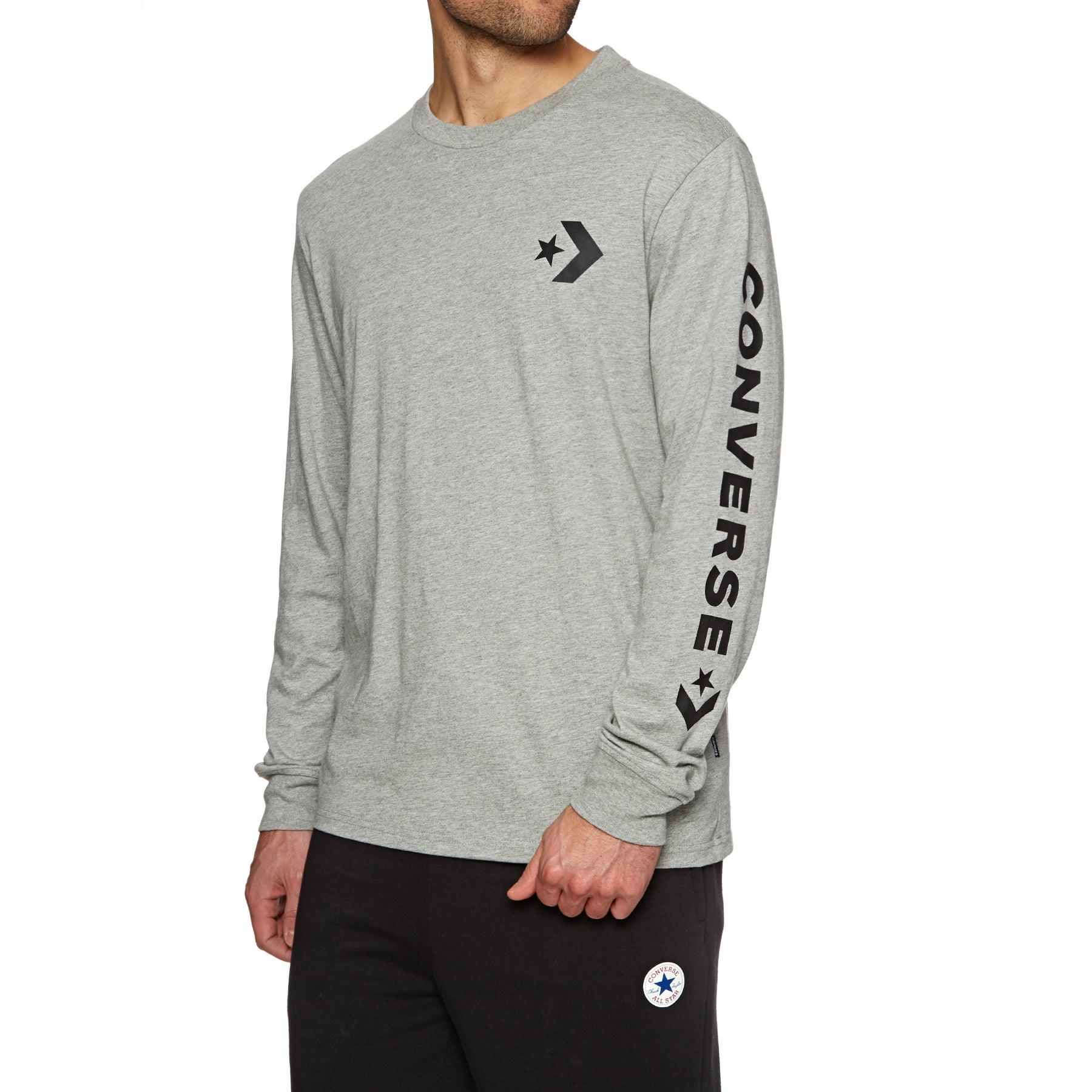 Converse Star Chevron Wordmark Long Sleeve T-Shirt