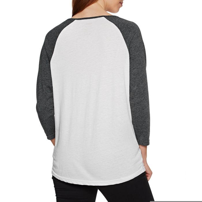 RVCA Bloom Raglan Ladies Long Sleeve T-Shirt