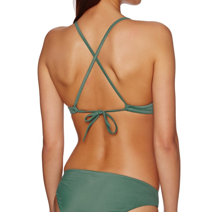 RVCA Solid Cross Back Ladies Bikini Top