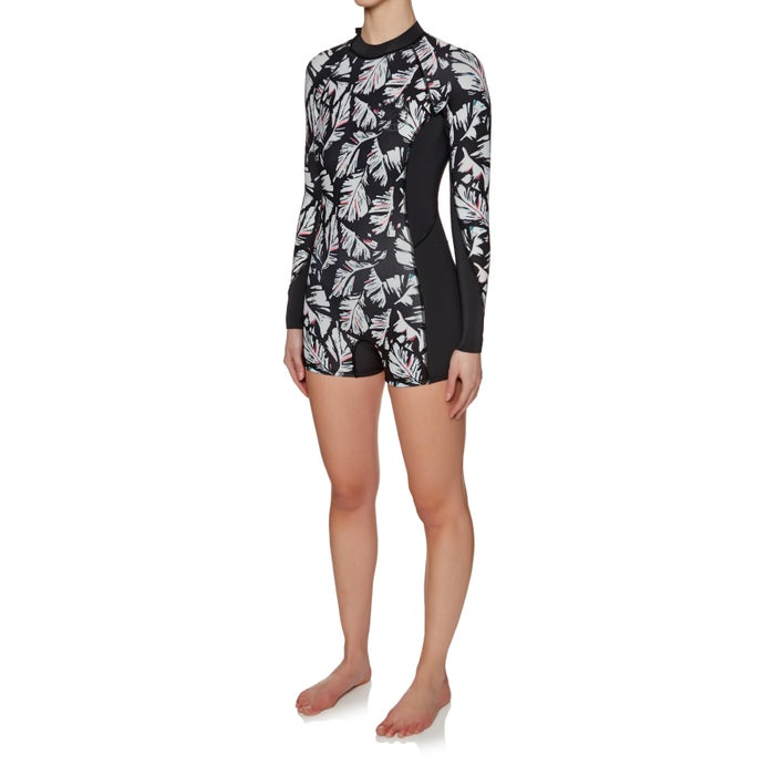 Billabong Spring Fever 2mm 2018 Back Zip Long Sleeve Shorty Ladies Wetsuit