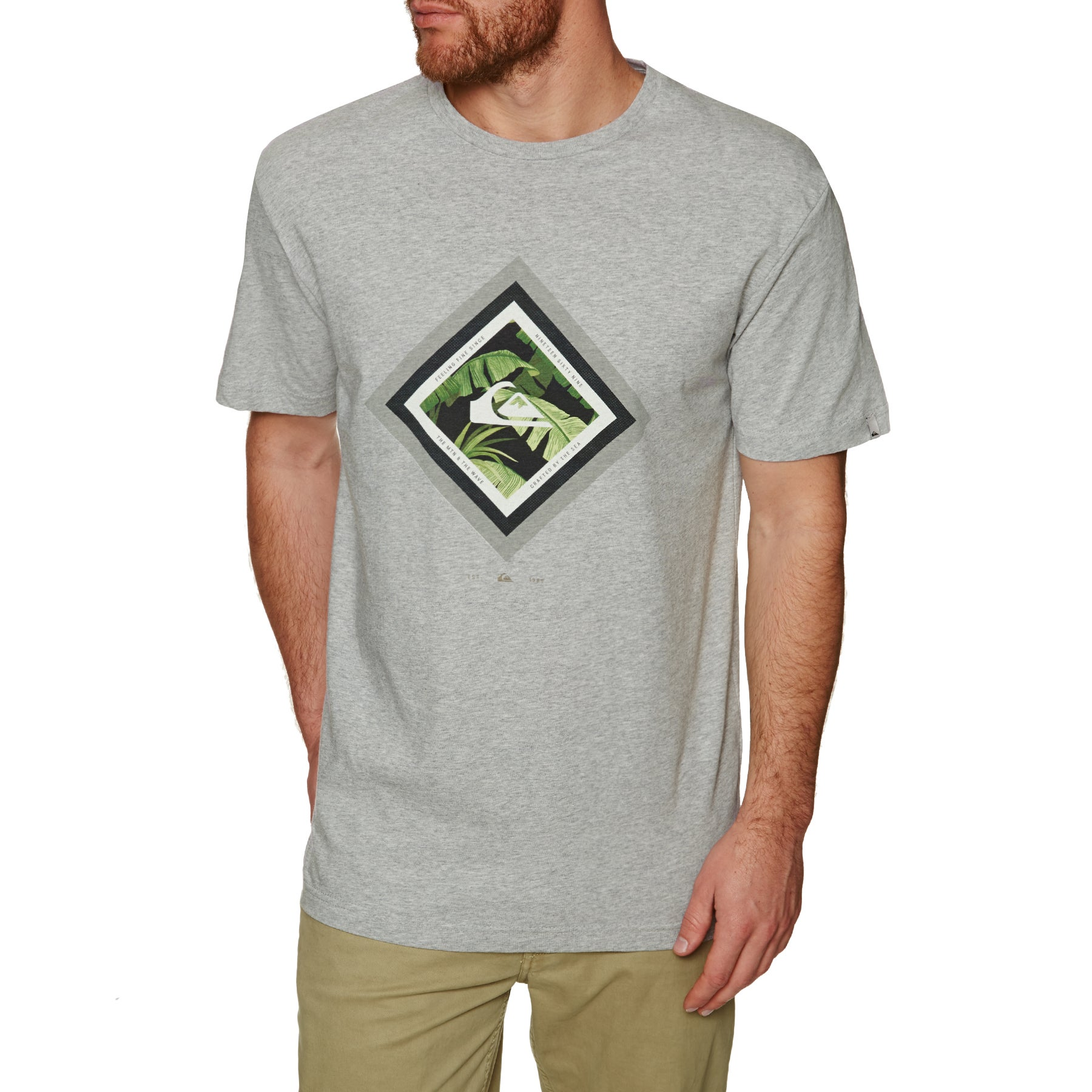 Quiksilver Classic Crimson Skyline Mens Short Sleeve T-Shirt