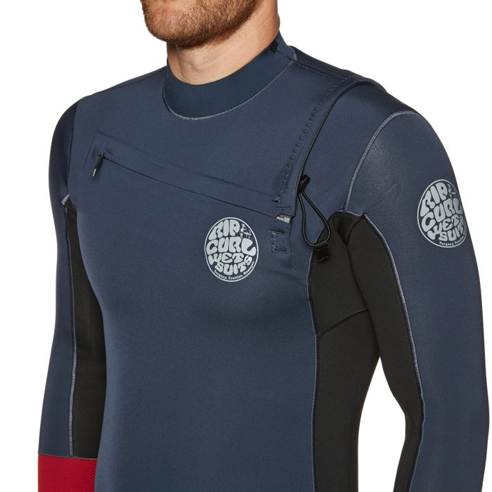 Rip Curl Aggrolite 2mm Chest Zip Long Sleeve Shorty Wetsuit