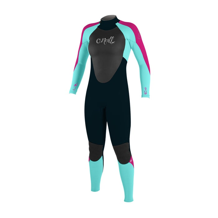 O Neill Girls Epic 4/3mm Back Zip Kids Wetsuit