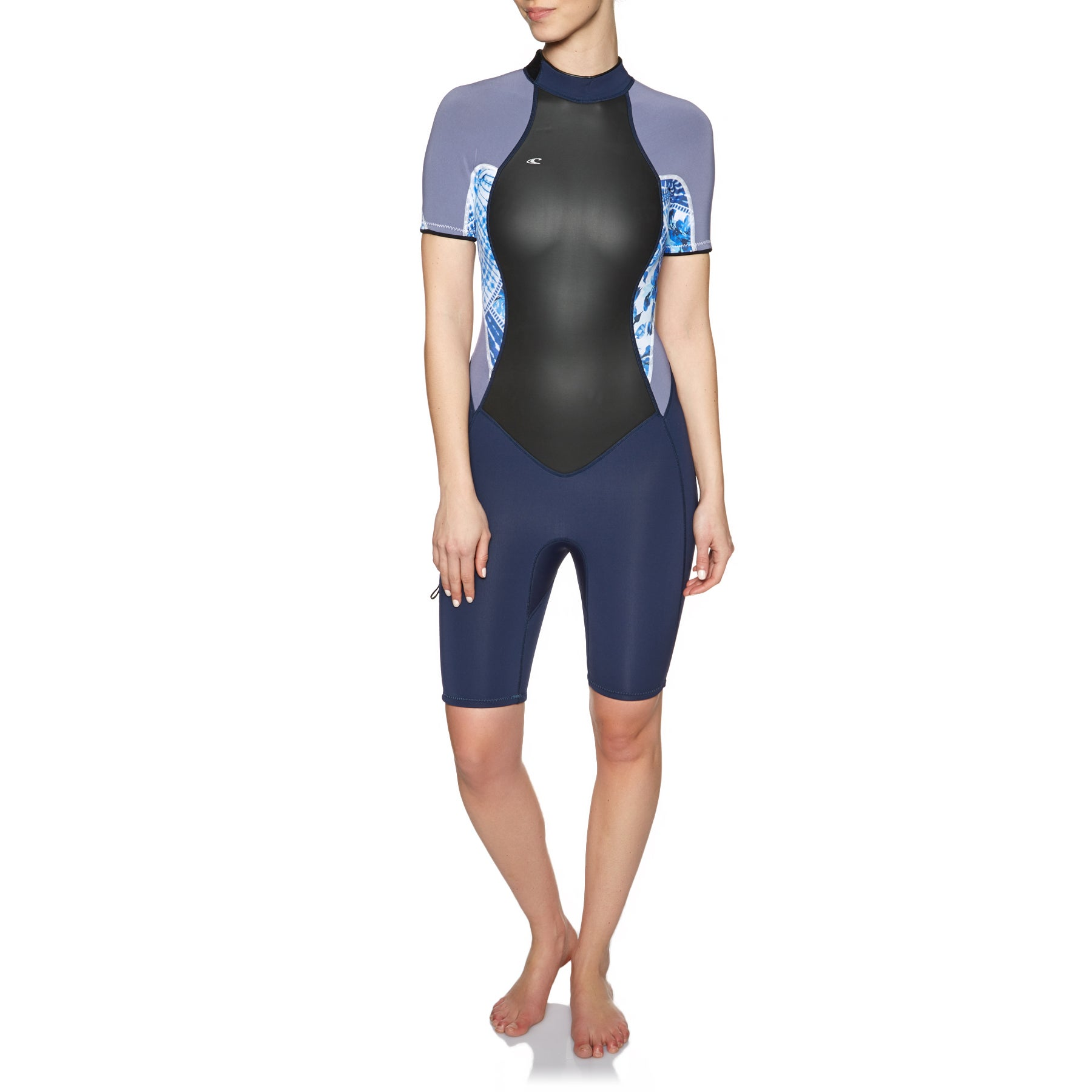 O Neill Womens Bahia 2/1mm Short Sleeve Shorty Wetsuit