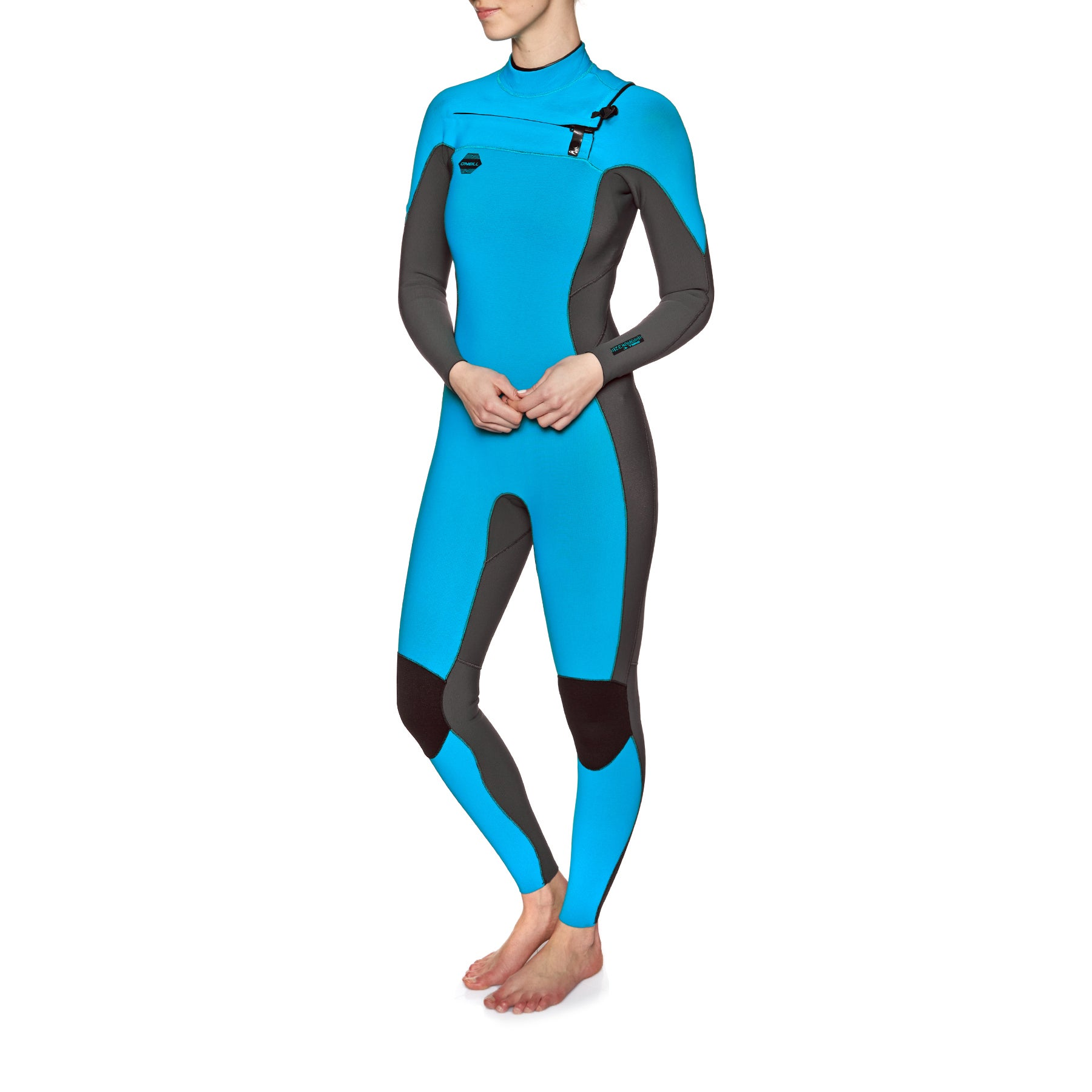 O Neill Womens Hyperfreak 3/2mm Chest Zip Wetsuit