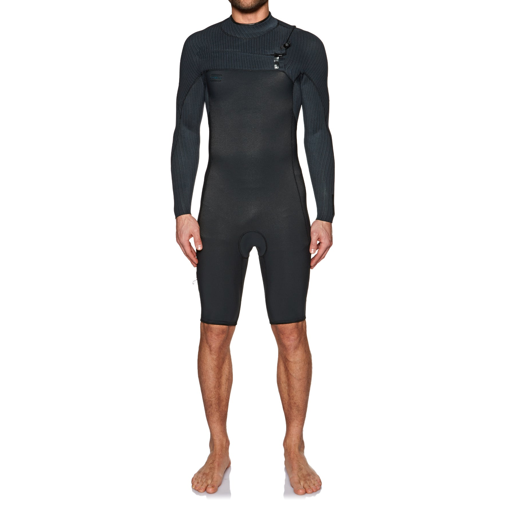 O Neill Hyperfreak 2mm Chest Zip Long Sleeve Shorty Wetsuit