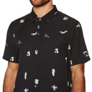 No News Patterned Short Sleeve Shirt