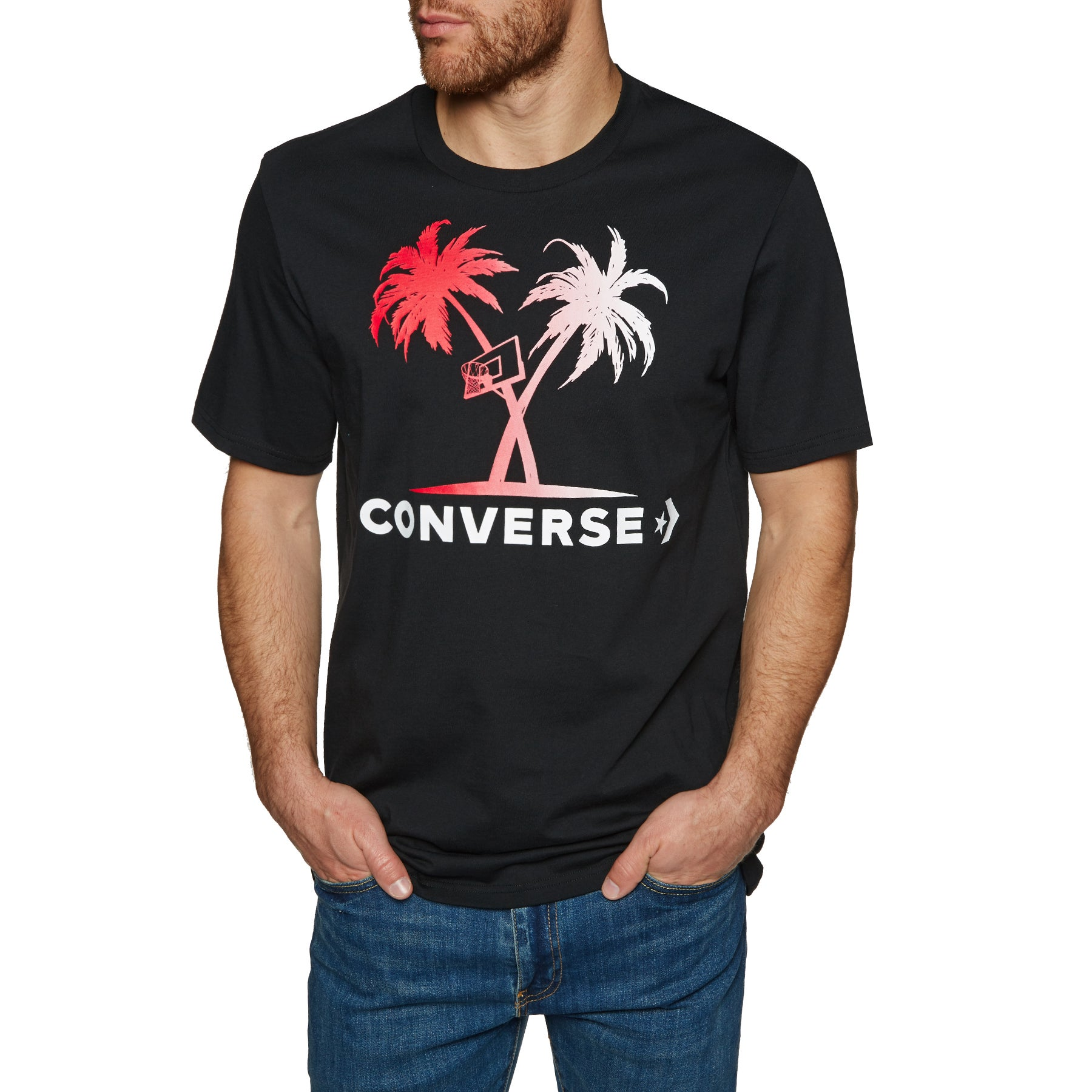 Converse Palm Trees And Hoops Short Sleeve T-Shirt