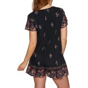 The Hidden Way Bonita Floral Border Ladies Playsuit
