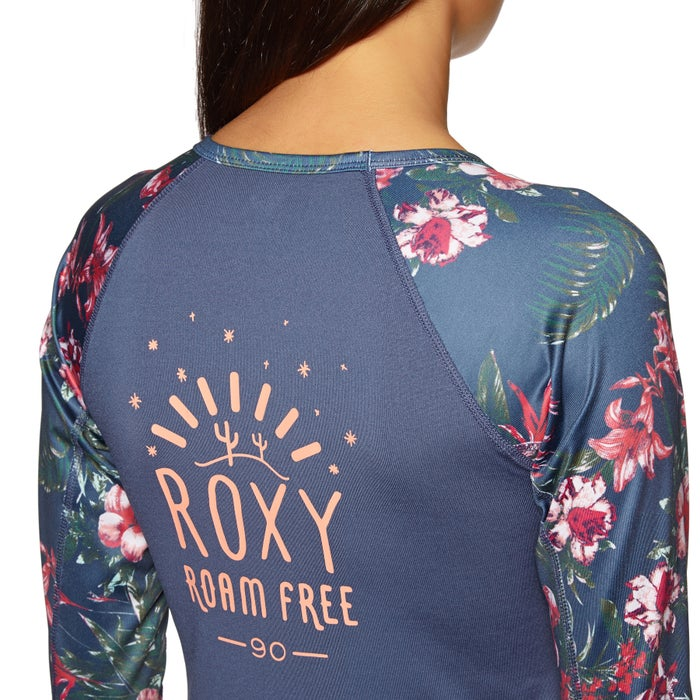 Roxy Sunset And Waves Long Sleeve Lycra Ladies Rash Vest