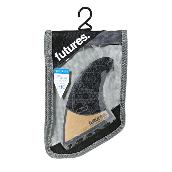 Futures Rasta Honeycomb Quad Fin