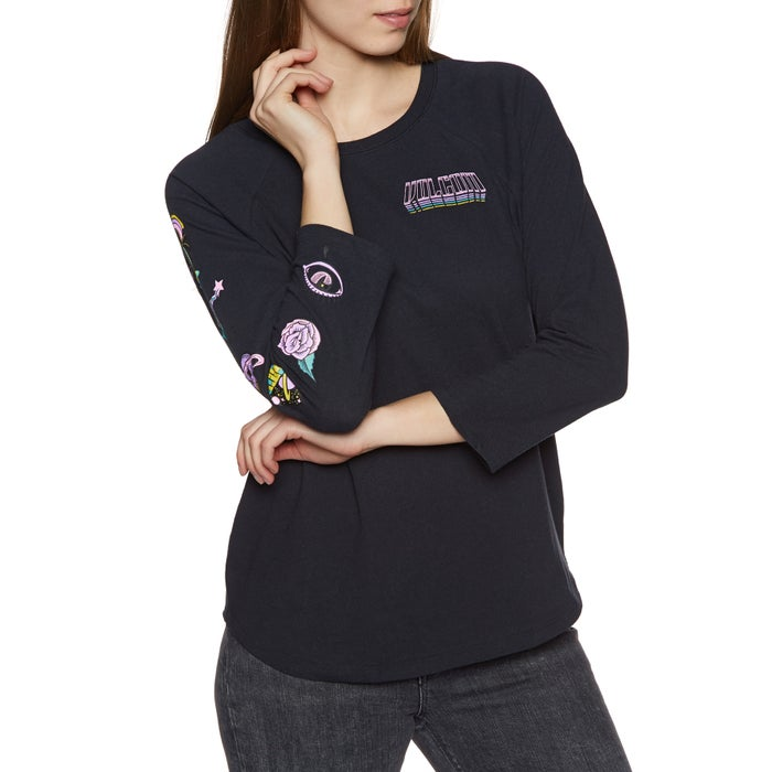 Volcom Pop Rocket Raglan Ladies Long Sleeve T-Shirt