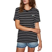 O Neill Premium Striped Ladies Short Sleeve T-Shirt
