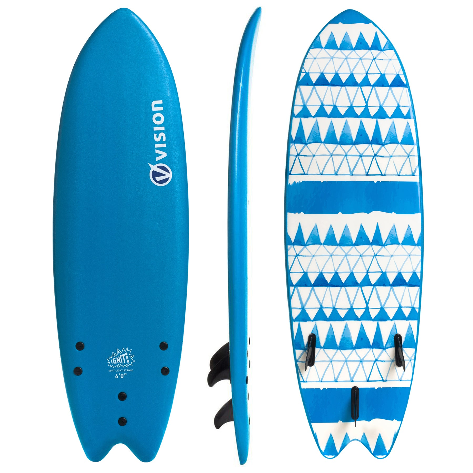 Vision Ignite Fish Soft Deck & Slick Bottom Surfboard