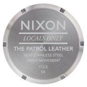 Nixon Patrol Leather Mens Watch